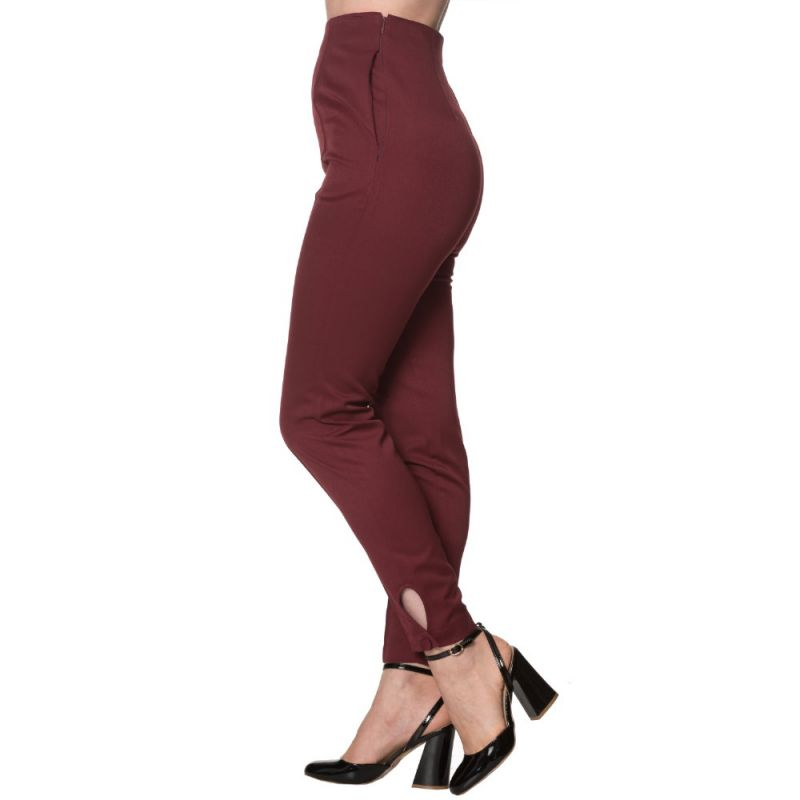 Trousers, TEMPTING Highwaist Burgundy