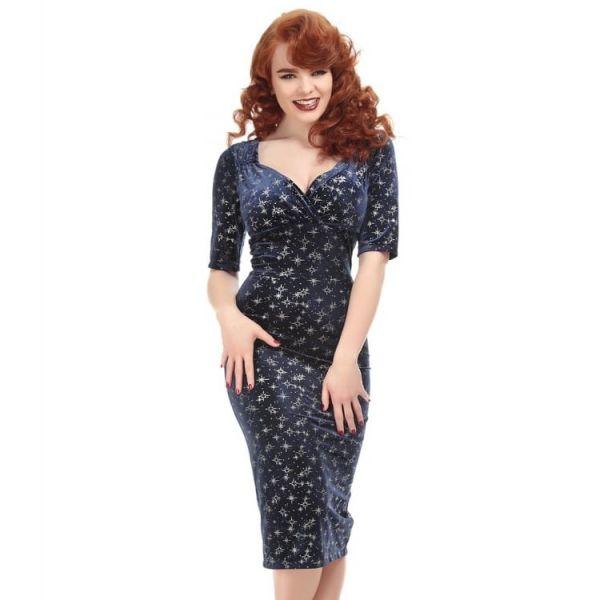 Pencil Dress, Trixie Velvet Sparkle