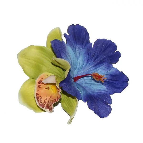 Hair Flower, IZABELA Green&Blue