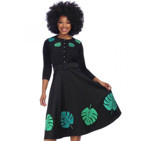 Swing Skirt, TROPICAL PALM