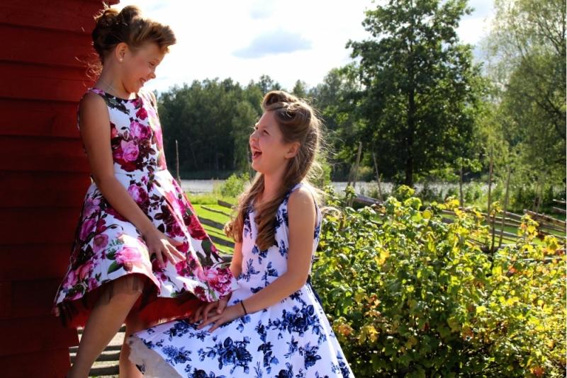 Lasten Kellomekko, HR Blue Rosa (4104)