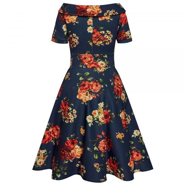 Swing Dress, DARLENE Orange Rose (333-11)