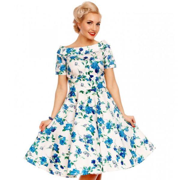 Kellomekko, DARLENE Blue Floral (333)