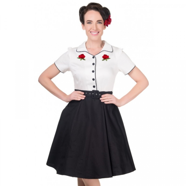 Kellomekko, SHERRY Rockabilly White (V692)
