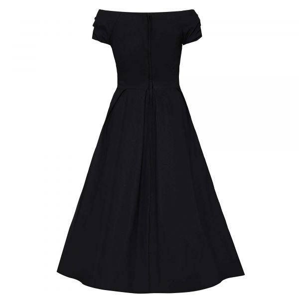 Swing Dress, LILY 50s Black (873-21)