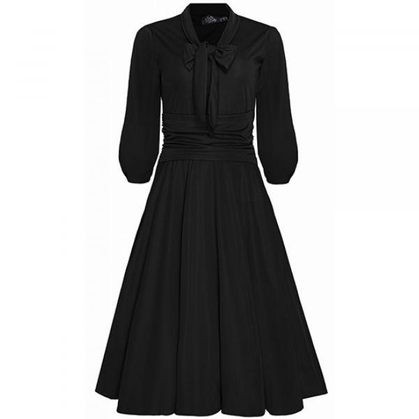 Swing Dress, SANDRA Black (923-1)