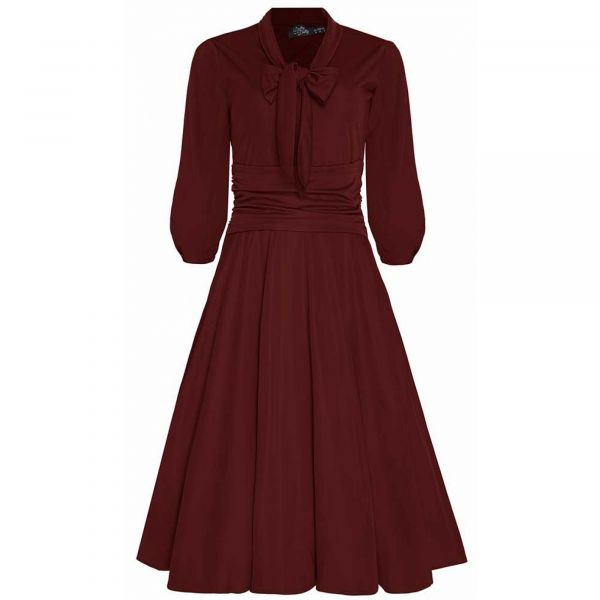 Swing Dress, SANDRA Burgundy (923-2)