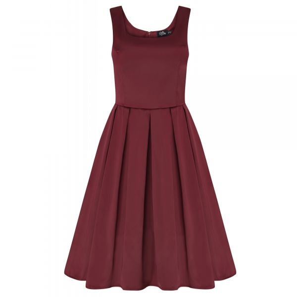 Swing Dress, AMANDA Burgundy (950-19)