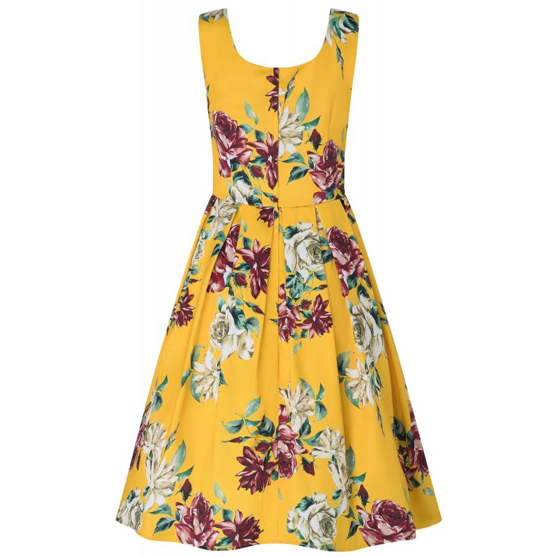 Swing Dress, AMANDA Yellow Rose (950-9)