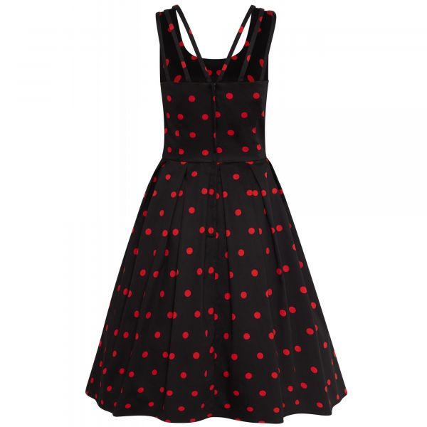 Swing Dress, PATRICIA Polka Blk/Red (954-1)