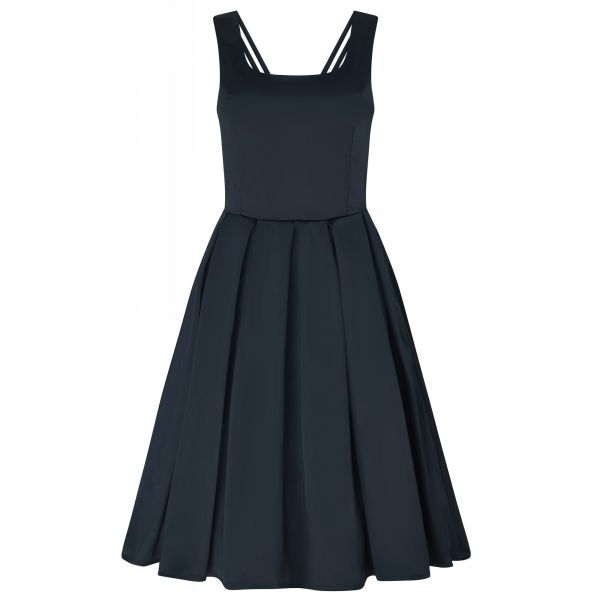 Swing Dress, PATRICIA Satin Black (954-8)