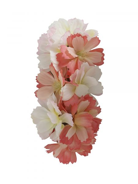 Hair Flower, VALERIE Pink/White