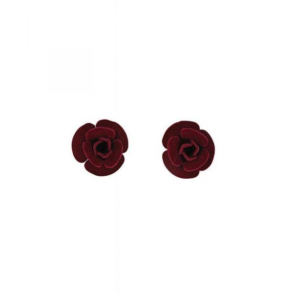 Earrings, VELVET ROSE Burgundy