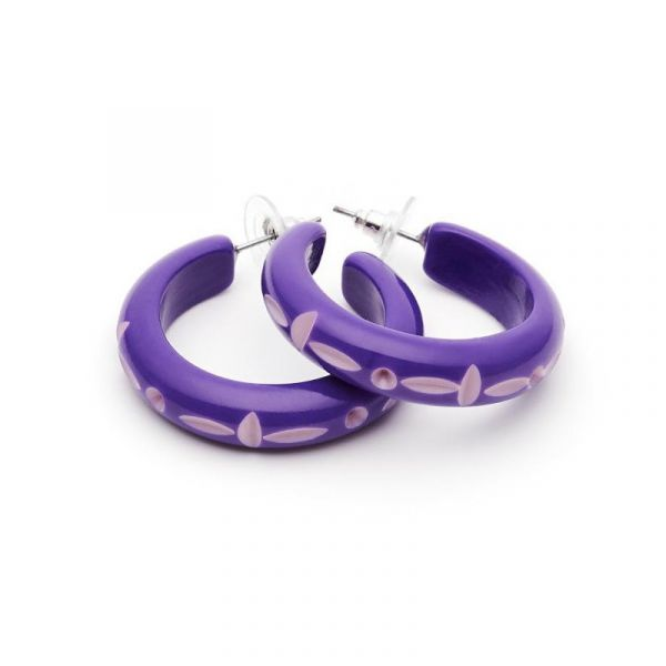 Earrings, SPLENDETTE Violet Hoop