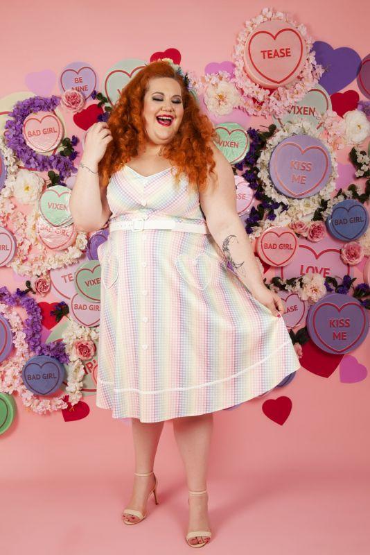 Swing Dress, PASTEL Gingham (8790)