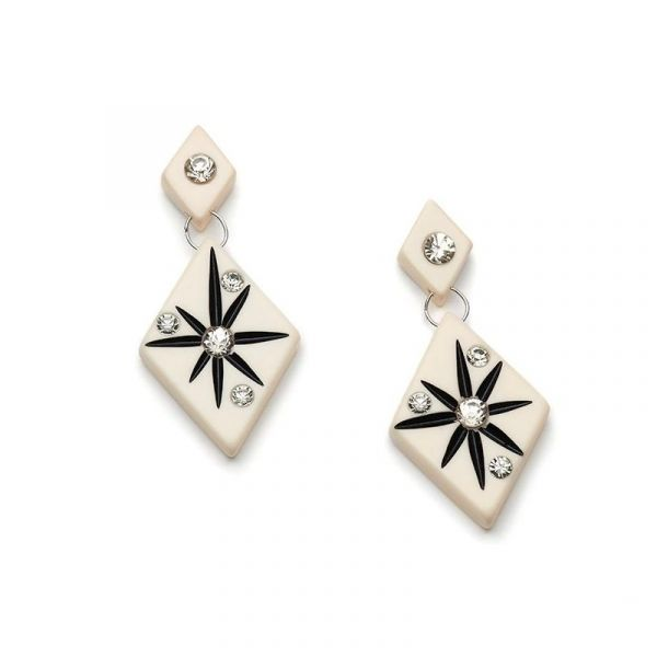 Earrings, SPLENDETTE Ivory Starburst