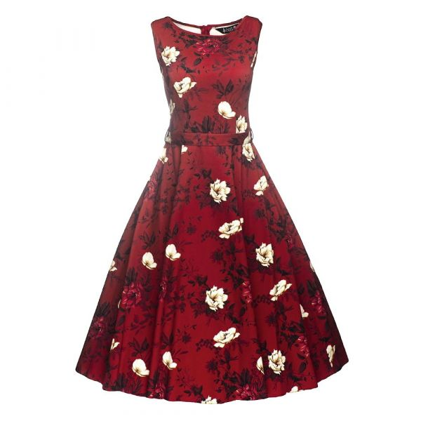 Swing Dress, HEPBURN Wild Roses