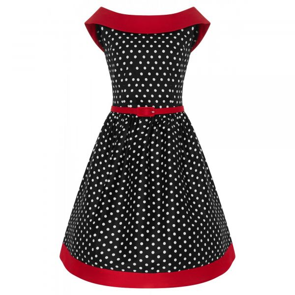 Kellomekko, CINDY Black Polka&Red (751-2)