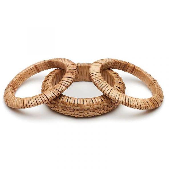 Bracelet Set, SPLENDETTE Woven Bamboo Light