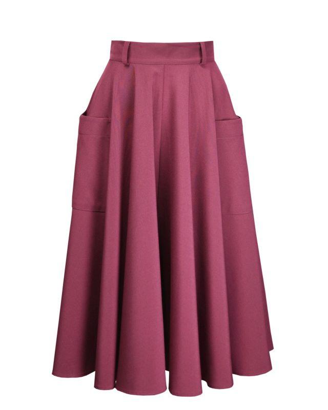 Swing Skirt, PRETTY RETRO 50s Dark Rose