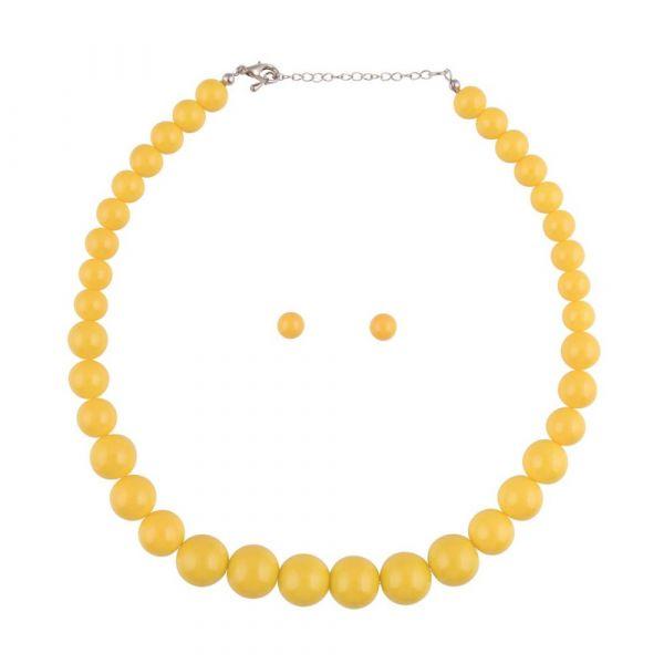 Bead Set, NATALIE Beads Yellow